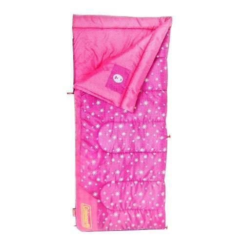 Bolsa De Dormir Sleeping Bag Infantil Rosa Brilla Obscuridad