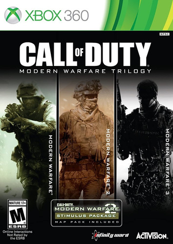 Call Of Duty Modern Warfare Trilogy (3 Juegos En 1) Xbox 360