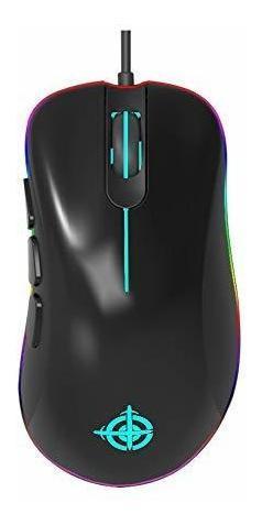 Gaming Mouse Rgb Mouse Atado Con Alambre [12400 Dpi] [6 Boto
