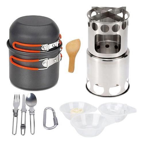 Kit De Cocina De Campamento Portátil Y Plegable 13 Piezas