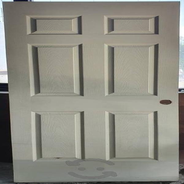 Puerta de Tambor 6 paneles madera 3.5x80x213cm