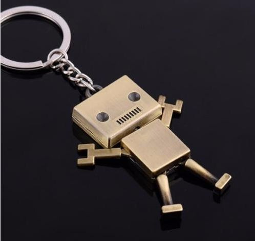 Robot Precioso Llavero Metalico De Robot Movible