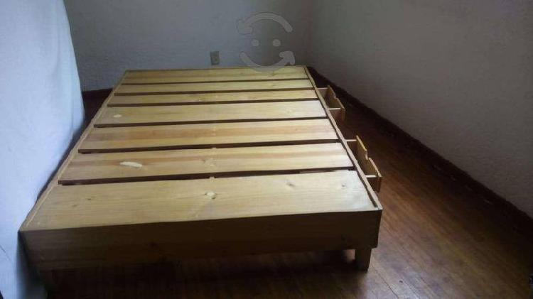 Vendo Base de cama matrimonial y mueble de madera