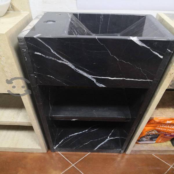 increíble lavabo mármol negro tocador