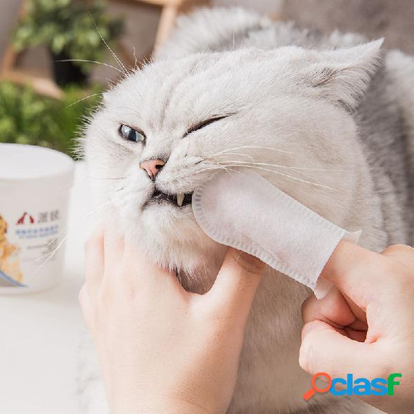 1 Caja Limpieza de mascotas Dientes Juegos de dedos