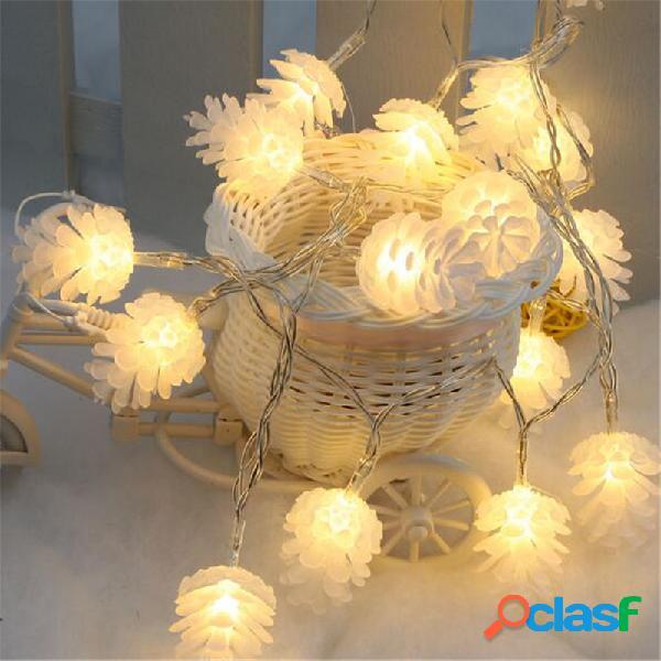 2M 20 LED Pine Cono String luces LED luces de hadas para el