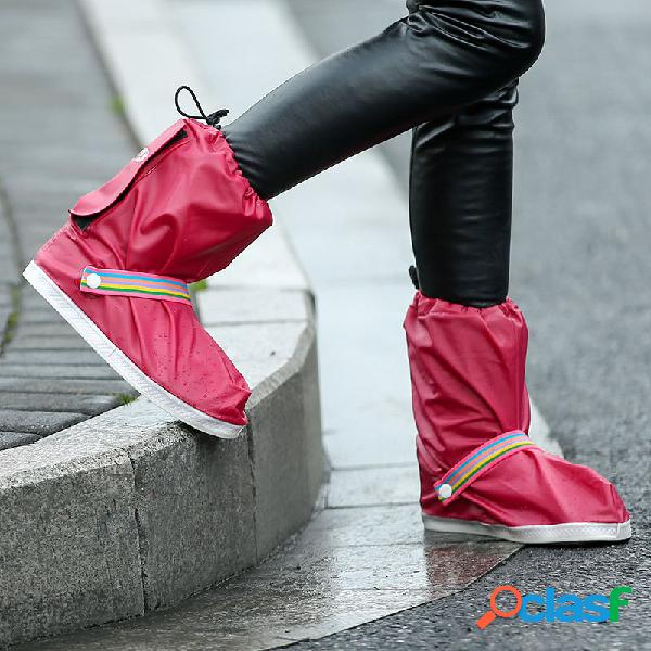 4 Colores Impermeable Hombres Mujer Lluvia Botas Cubierta