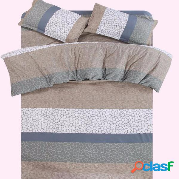 4pcs Elegante ropa de cama Set Funda edredón Duvet hoja