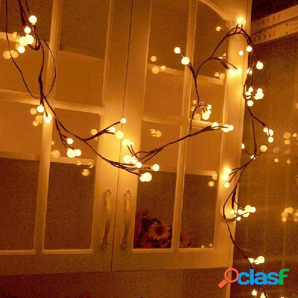 72LED Rama de árbol de navidad Cadena de luz Guirnaldas a