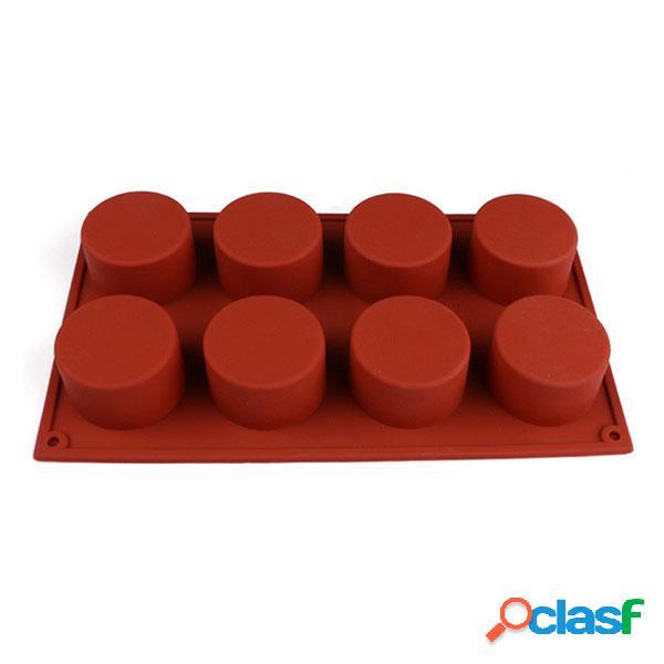 8 agujeros forma redonda moldes de silicona molde 3D