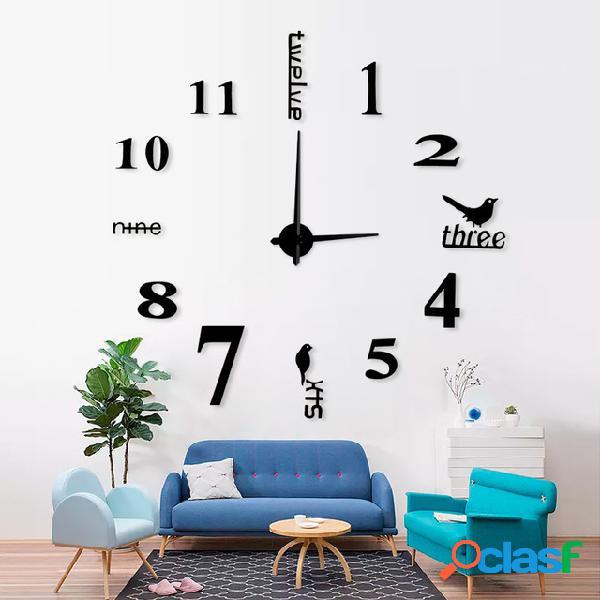 Acrílico 3d grande creativo reloj de pared sala de estar