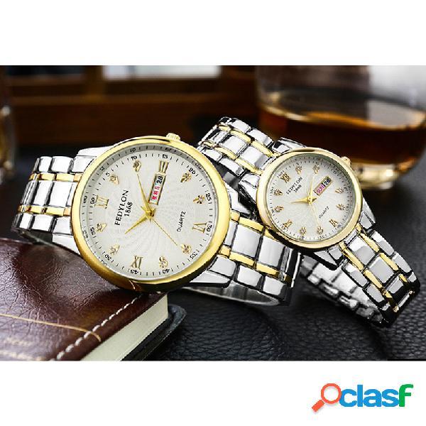 Aleación de moda Pareja Reloj de cuarzo Reloj de cintura de
