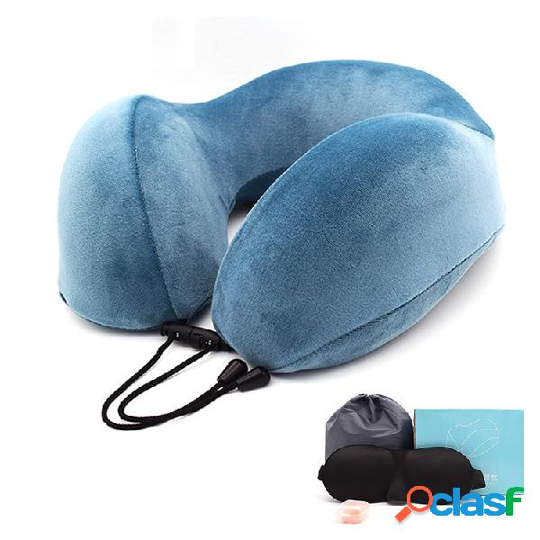 Almohada en forma de U de algodón con memoria en forma de U