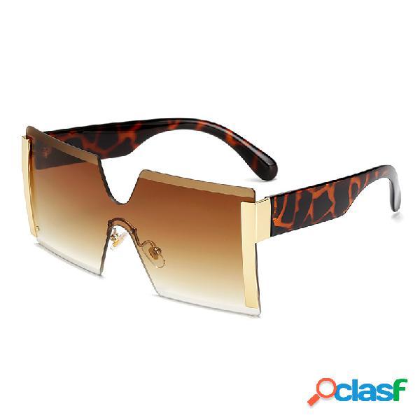 Anti-UV Square Retro Driving Gafas Fashion Big Caja gafas de