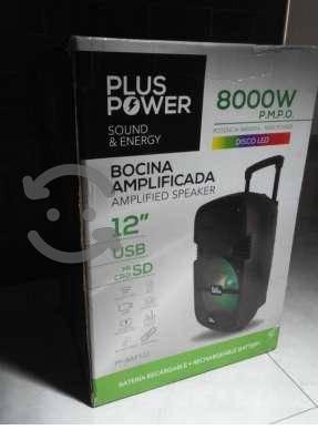 Bocina nueva Amplificada De 12 Bluetooth Usb Sd Pp