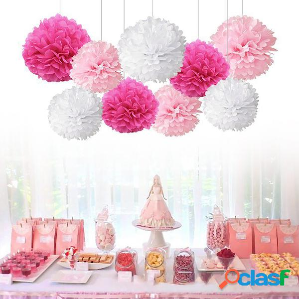 Bolas de flores de papel de pompones de papel para Boda