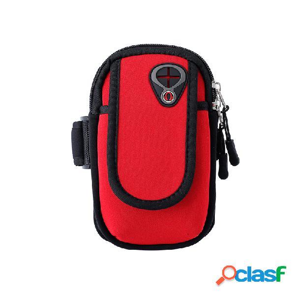 Bolsa de brazo ajustable de deportes Brazo para correr con