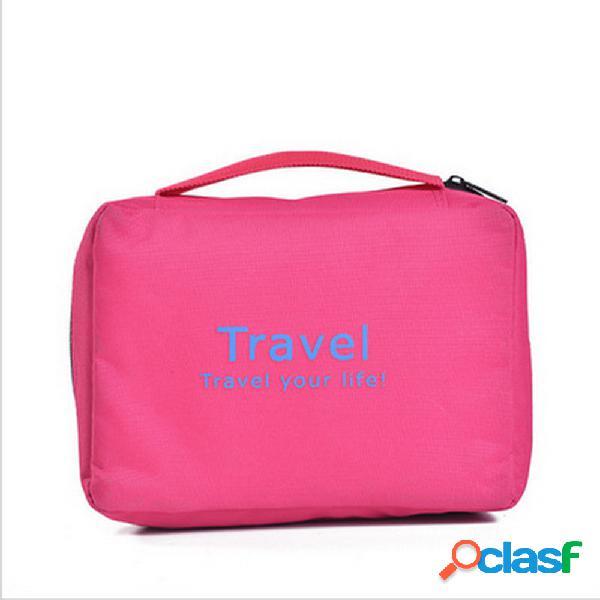 Bolso cosmético impermeable portátil de Nylon Travel