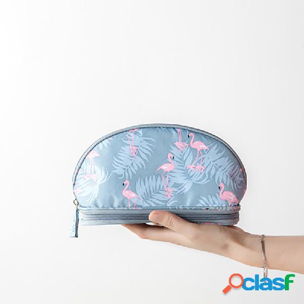 Bolso cosmético portátil del recorrido de la impresión