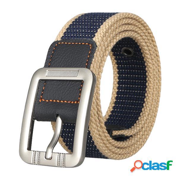 Cinturones para hombres Moda Casual hebilla de aguja