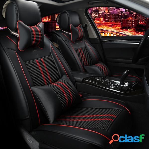 Cubierta de asiento de auto de 11 piezas PU Frente + Cojín