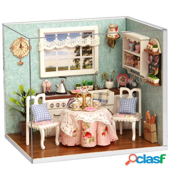 Cuteroom Dollhouse miniatura comedor encantador kit de