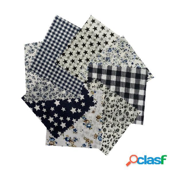 DIY Paño de algodón tejido a mano 8 Grupo de tela de
