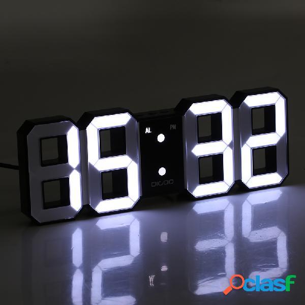 Digoo DC-K3 multifunción 3D LED grande Reloj de pared reloj