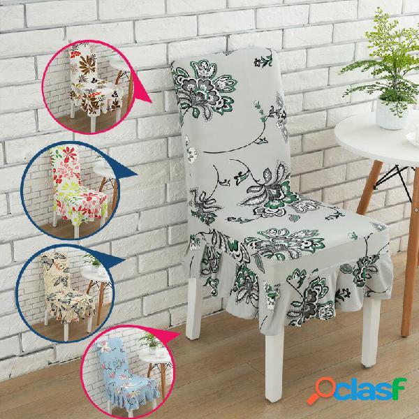 Elegante flor elástica cubierta de asiento de la silla con