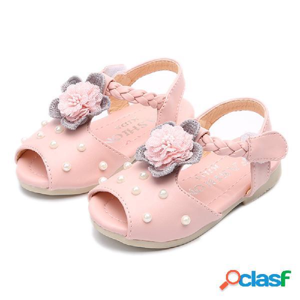 Flor encantadora para niñas cuenta Decoración Peep toe