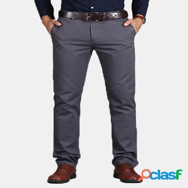 Hombres 100% Algodón Transpirable Soft Color sólido Casual