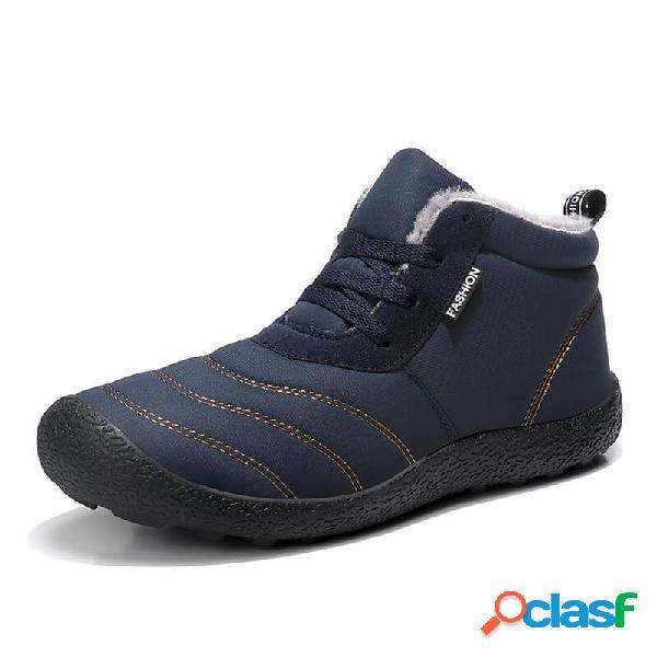 Hombres Gran Tamaño Casual Snow Botas al aire libre Zapatos