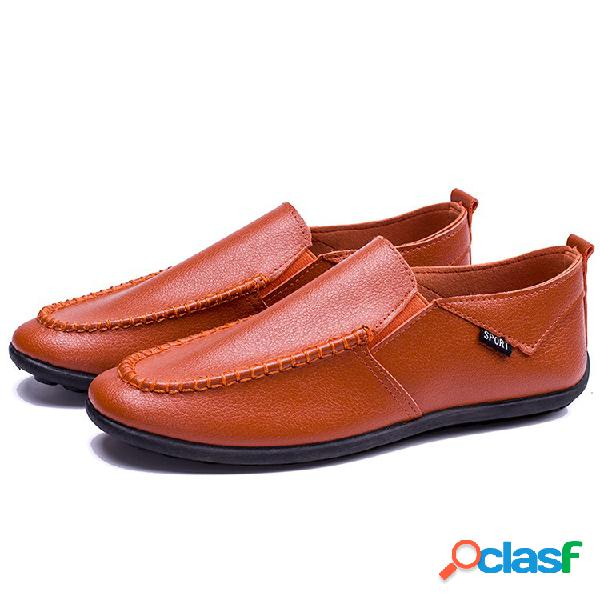 Hombres Low Top Pure Color Comfy Soft Sole Slip On Casual