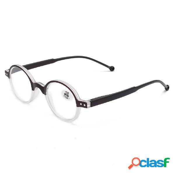 Hombres Mujer Lectura redonda de alta definición Gafas al