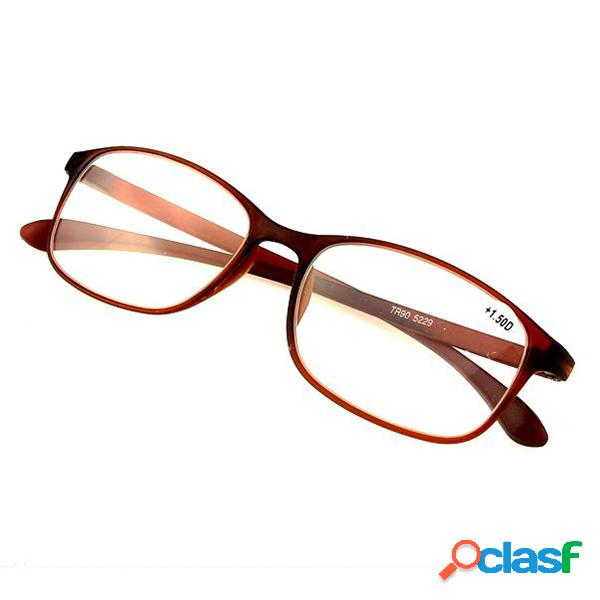 Hombres Mujeres Flexible Ultra Light TR90 Frame Reading