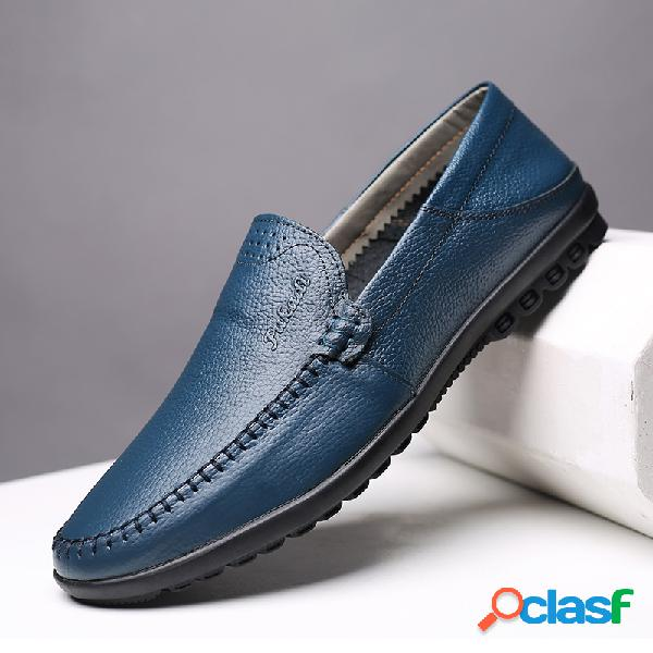Hombres Pure Color Comfy Soft Slip On Heel Plegable