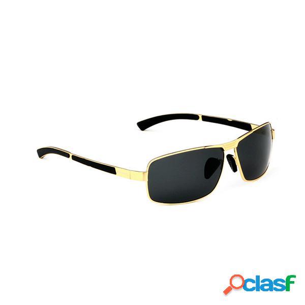 Hombres polarizados gafas de sol Vintage Deportes al aire