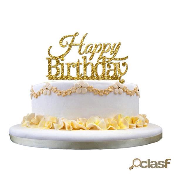 Honana CF-CT03 Feliz Cumpleaños pastel de pastel de