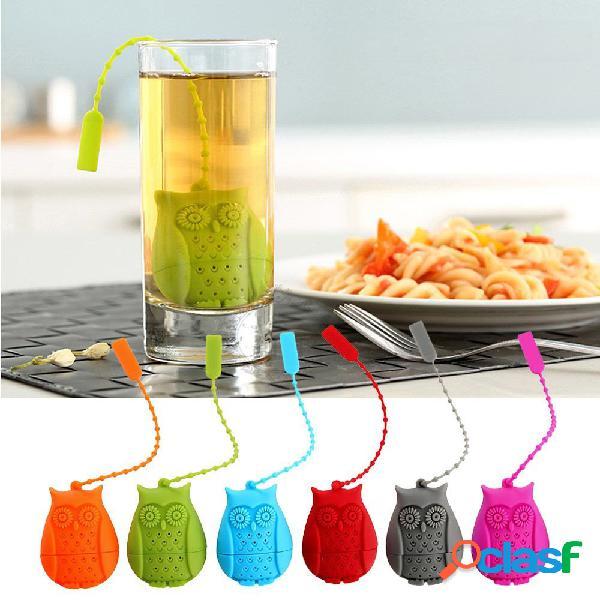 Infusor de té de silicona Owl Mango filtro Infuser para