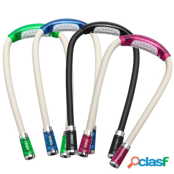 LED Cuello Luz Batería Tejido de punto tejido a ganchillo