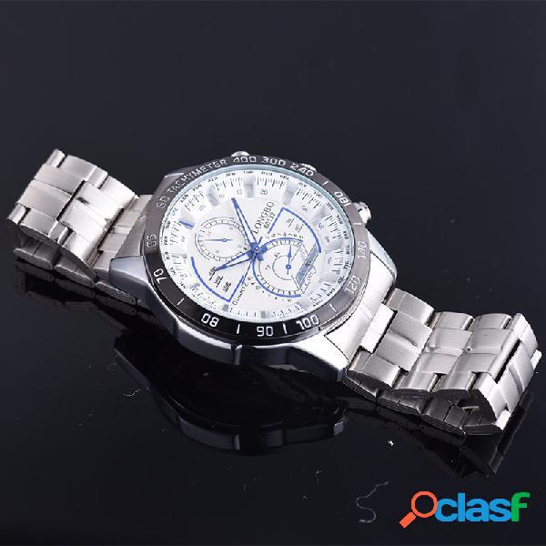 LONGBO Relojes para hombre con encanto, de acero inoxidable,