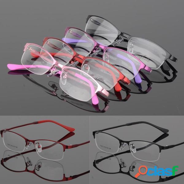 Lentes de medio marco Lentes transparentes Metal TR90 Gafas