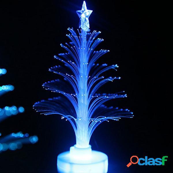 Luz colorida del árbol de navidad de la fibra óptica del