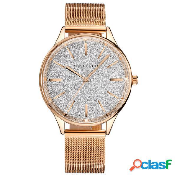 MINIFOCUS Moda Cuarzo Reloj de pulsera Correa de acero