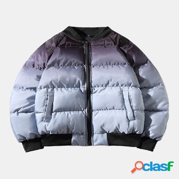 Mens Gradient Fashion Diseño Abrigo de gran tamaño con