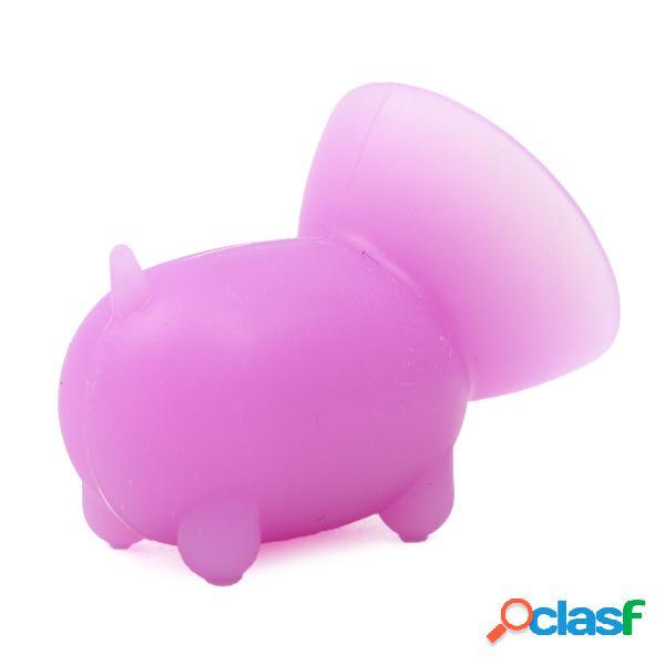 Mini soporte para móvil de cerdo mono de silicona Soporte