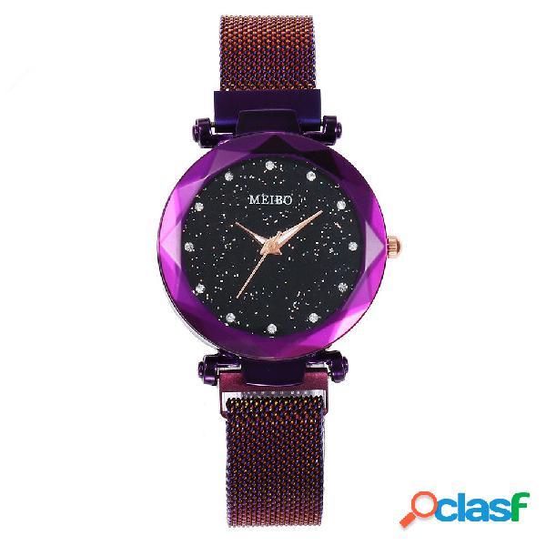 Moda Mujer Reloj de cuarzo Starry Sky Reloj de cuarzo