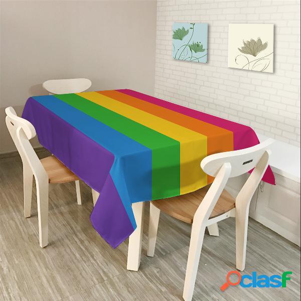 Moderno Simple Estilo Rectangular Poliéster Mantel Colorful