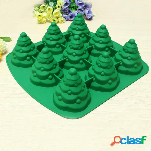 Molde de la torta del árbol de Navidad 3D Molde de la