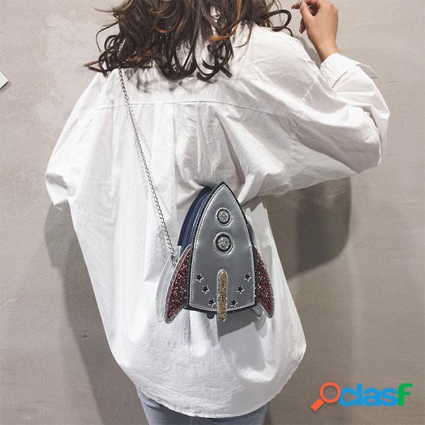 Mujer Cadena con forma de cohete personalizada de imitación